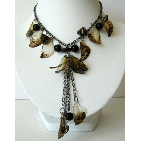 Multi Beads Necklace w/ Tassel Jewelry