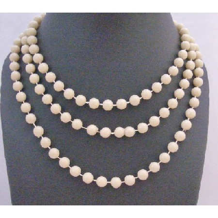 Beautiful Oat Beaded Fancy striking Oat Big Small Bead Long Necklace