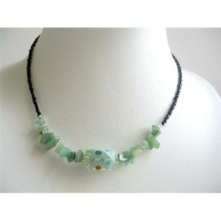 jewelry carat inch malachite dp com chip amazon necklace