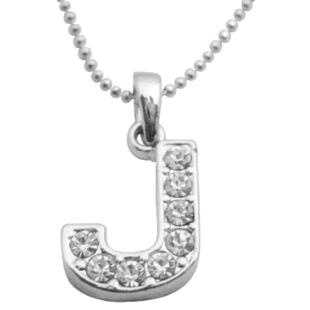 Cubic zircon affordable under 5 alphabet pendant j pendant necklace aloadofball Images