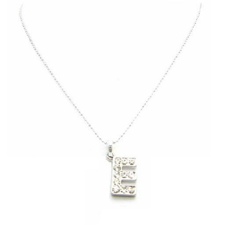Cheap Necklace Alphabet Pendant Sparkling Diamante Letter E Pendant