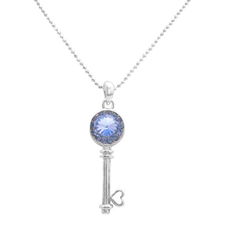 Holiday Event Christmas Gifts Very Cute Sapphire Key Pendant Necklace