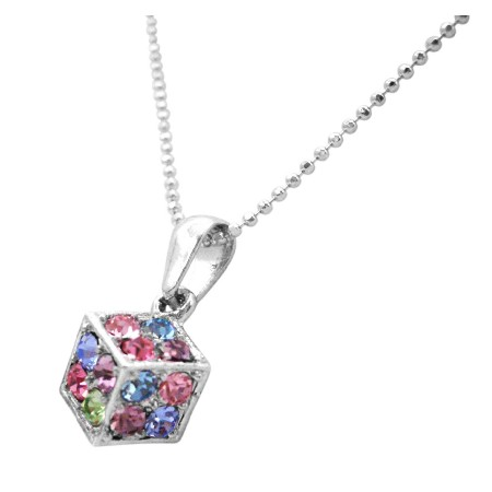 Dice Pendant Multicolored Crystals Dice Pendant Holiday Club Gifts