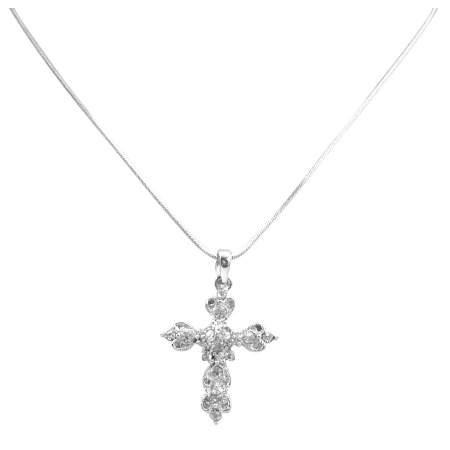 Diamante Cross Pendant Sparkling Affordable Inexpensive Christmas Gift