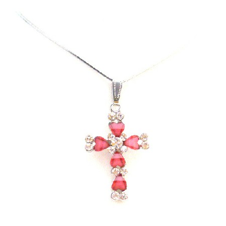 Beautiful Necklaces at Amazing PricesPink Cross Pendant Christmas Gift