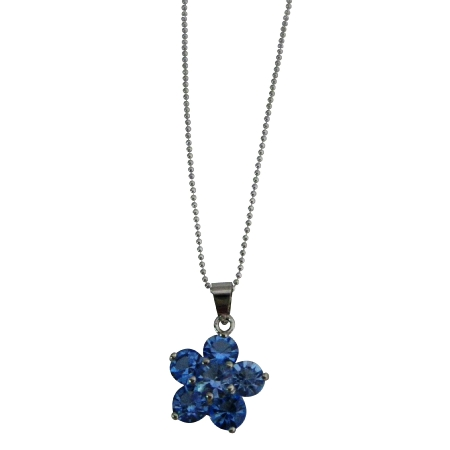 Looking For Blue Flower Pendant Necklace Shop Fashion Jewelry Gifts