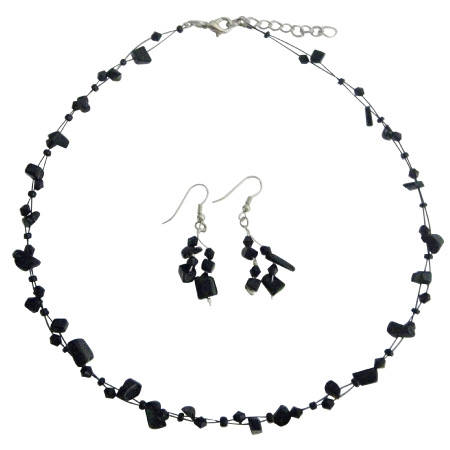 FashionJewelryForEveryone.com Fresh Design Reasonable Gift In Jet Stones With Crystals Jewelry Set at Sears.com