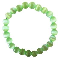 Adorable Beautiful Green Under $5 Stretchable Cat Eye Bracelet