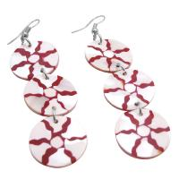 Dangling Shell Circle Earrings w/ Self Designed Unique Shell Earrings :  dangling earrings designed earrings shell dangling earrings earrings