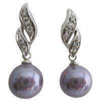 Reasonable Low-Priced Purple Surgical Post Earrings Bridemaids Jewelry