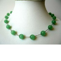 Glass Faceted Beads Necklace