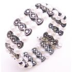 Black & White Pearls Cute Cuff Braclet Under $5 Jewelry Gift Affordabl