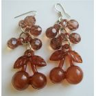 Brown Beaded Bunches Affordable Earrings Very Cute Earrings