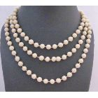 Beautiful Oat Beaded Long Necklace Fancy striking Oat Big Smalll Bead Long Necklace 54 Inches Long Necklace
