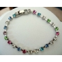 Multi Colored Bracelet with Cubic Zircon 7 inches Long