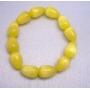 Stretchable Bracelet Yellow 12mm Teardrop Cat Eye Beaded Bracelet Gift