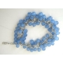 Multi Blue Glass Beaded Bracelet