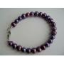 Purple Freshwater Pearls Jewelry Purple Metallic Pearls Bracelet
