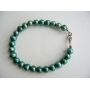 Freshwater Pearls Jewelry Green Metallic Pearls Bracelet