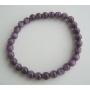 Cat Eye Beaded Stretchable Purple Cat Eye 6mm Beads Handmade Bracelet