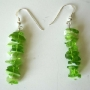 Handcrafted Sterling Silver Peridot Stone Chip Custom Earrings