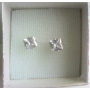 Cubic Zircon Prince Cut Stud Earrings Simulated Diamond Stud Earrings