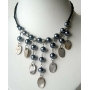 Choker Peral & Shell Cultured Pearls w/ Dangling Shell Necklace