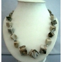Ethnic Greyish Black Beads Beach Necklace 28 inches Long Beach Jewelry