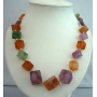 Summerish Beach Necklace In Multi Colored Beads Long Necklace