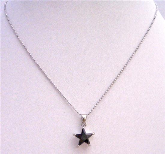 FashionJewelryForEveryone.com UNE216 Black Star Pendant Pendant Necklace Embedded w/ Immitation Jet Crystal Necklace at Sears.com